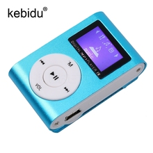 Digital LCD Screen Metal Mini Clip MP3 Player with Micro TF/SD Slot with Earphone and USB Cable Portable MP3 Music Players(China)