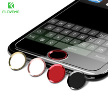 FLOVEME Button Cover Set For iPhone 7 6 6S Plus Home Button Sticker Fingerprint Unlock keypad keycap For iPhone 6 6S 5 Case