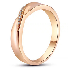 A Token Of Love For Lovers Genuine Diamonds Wedding Band In 9K Solid Rose Gold Romantic Daily All-match Jewelry Not Simulated