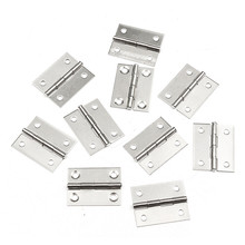 MTGATHER New 10pcs 1.5 Inch Stainless Steel Butt Hinges For Cabinet Drawer Door Length Widely Used For Door 36 x 28 x 4mm(China)