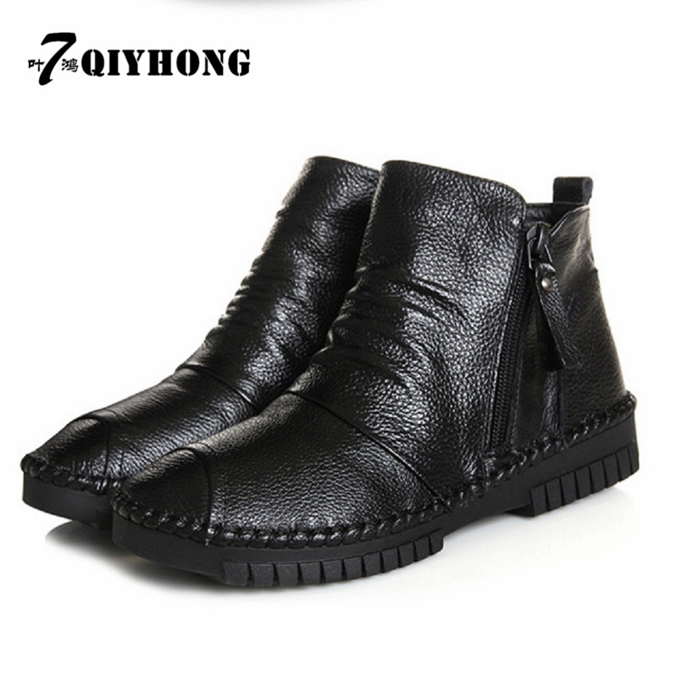 QIYHONG Brand 2017 New WomenS Shoes Fall Fashion Casual Boots Original Handmade Original Retro Folk Wind Bare Boots<br><br>Aliexpress