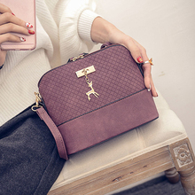 Women Messenger Bag Luxury Brand Leather Handbag Crossbody With Deer Toy Fashion Small Bags Girls Shell Shoulder Bag