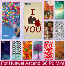 (Only For 3G Version) Colorfull Balloon Love You Beer Moon Princess Case Capa For Huawei Ascend G6 P6 Mini Phone Case Hood Shell
