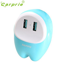 CARPRIE Hot selling REMAX Eva Lovely Dual USB 2.4A Charger For Cellphone Tablet Powerbank YYH
