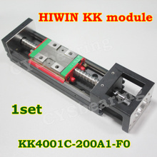 1 set Hiwin brand  KK Precision Linear Modules  C level  Linear tables KK4001C-200A1-F0 Taiwan