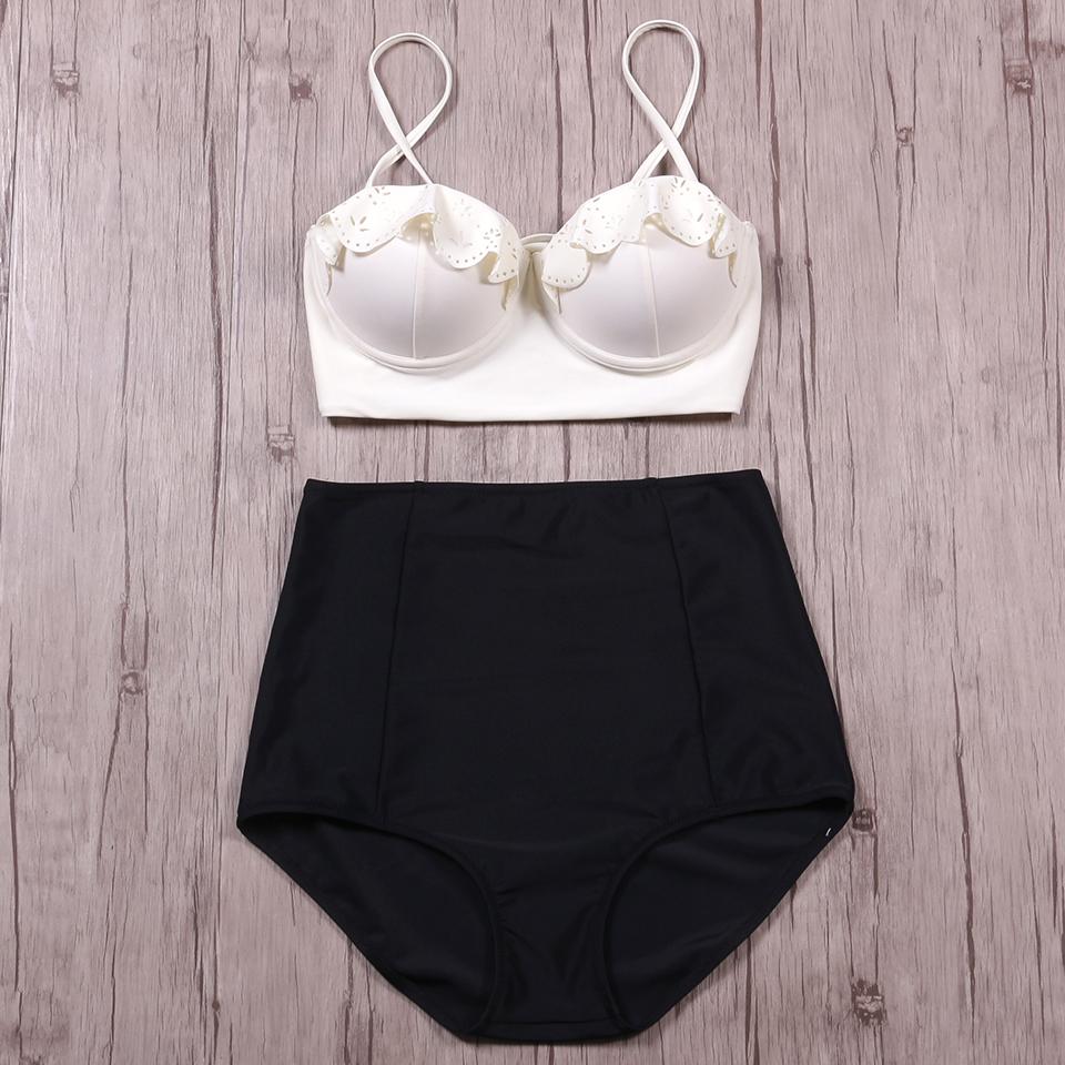 TQSKK 19 New Bikinis Women Swimsuit High Waist Bathing Suit Plus Size Swimwear Push Up Bikini Set Vintage Retro Beach Wear XXL 7