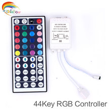 RGB Led Controller 44 Keys LED IR RGB Controler LED Lights Controller IR Remote Dimmer DC12V 6A For RGB 3528 5050 LED Strip(China)