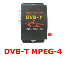 Car TV Tuner DVB-T MPEG-4 Digital TV BOX Receiver Mini TV Box Free shipping(China)