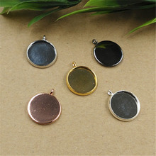 Buy 10mm 12mm 14mm Round Cabochon Base 6 Colors Plated Copper Pendant Setting Bezel Blank Base Charm Jewelry Making for $5.80 in AliExpress store