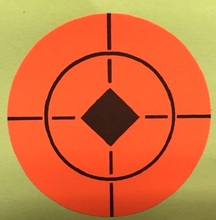 High Visibility Target Stickers Self-adhesive, Peel off, Orange, 4, 5 or 7.5cm(China)