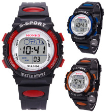 Men Women Students' Fashion Digital Multifunctional Alarm Sports Wrist Watch