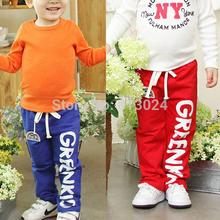 Child Baby Boys Long Pants Trousers Casual Rainbow Pattern Cotton Bottoms 2-6Y