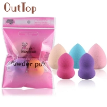 Beauty Girl Hot Sales 5PCs Multi Shape Makeup Puff Pro Beauty Flawless Makeup Blender Foundation Sponges Puff Jun 13(China)