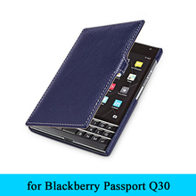Brand Protective Bag Magnet Book Flip Folio Real Leather Phone Cover Case for BlackBerry Passport Q30 + Full Track+Gift