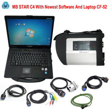 Good Quality MB Star C4 With CF-52 Sd Connect C4 With Newest Software 2017/09 Vediamo+ DTS Fit For Automotive diagnostic tool(China)