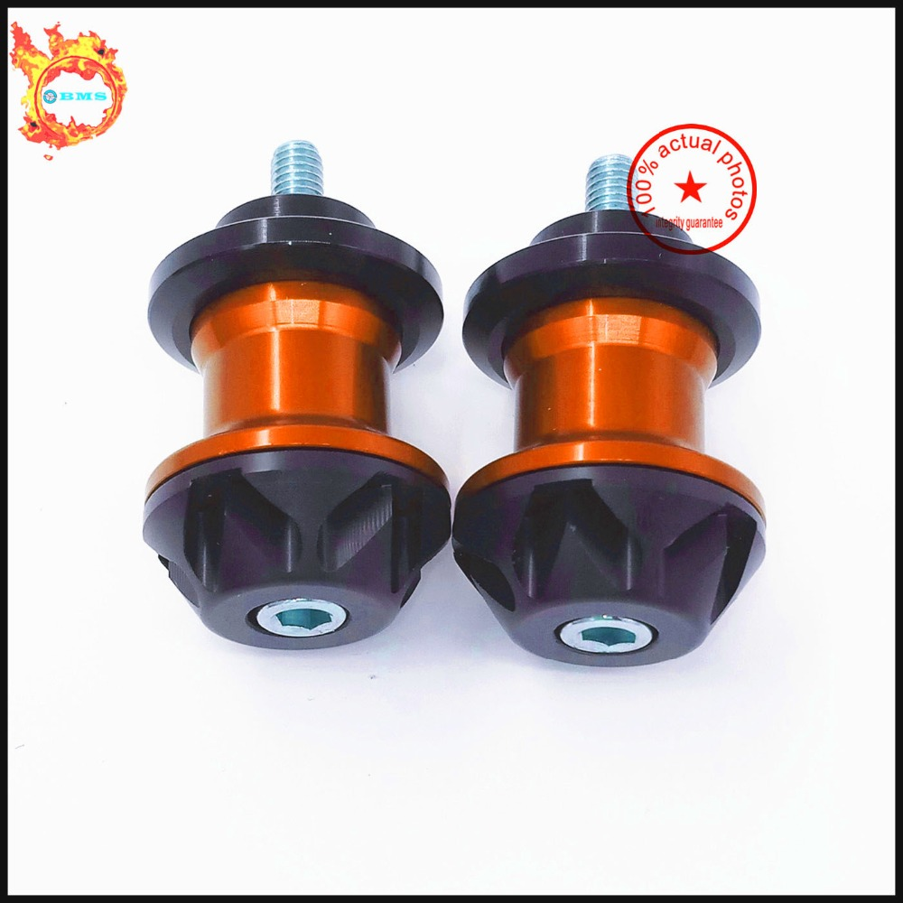 For KTM 125/200/390 DUKE 2012-2015, RC125/200/390 2014-2015   Motorcycle  Swingarm Spools slider  stand screws 0.394 inch<br><br>Aliexpress