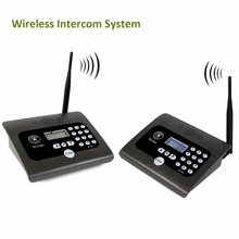 2pcs Full Duplex Indoor Wireless Voice Calling Intercom System Two-way Desktop Radio for Home&Office Intercom 400-470MHz F4483H