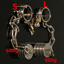 Buy Stainless Steel Cock Rings Male Penis Ring Ball Scrotum Stretcher Bondage Slave Heavy Metal Chastity Fetish Sex Toys Men