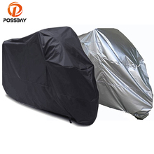 POSSBAY Universal Motorcycle Bike Moped Scooter Cover Outdoor Waterproof Dustproof Anti UV Racing Motocross Covering(China)