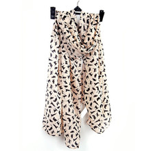 2017 150CM X 40CM Soft Scarf Cute Cat Print for Women Bohemian Style Summer bufandas mujer #YW