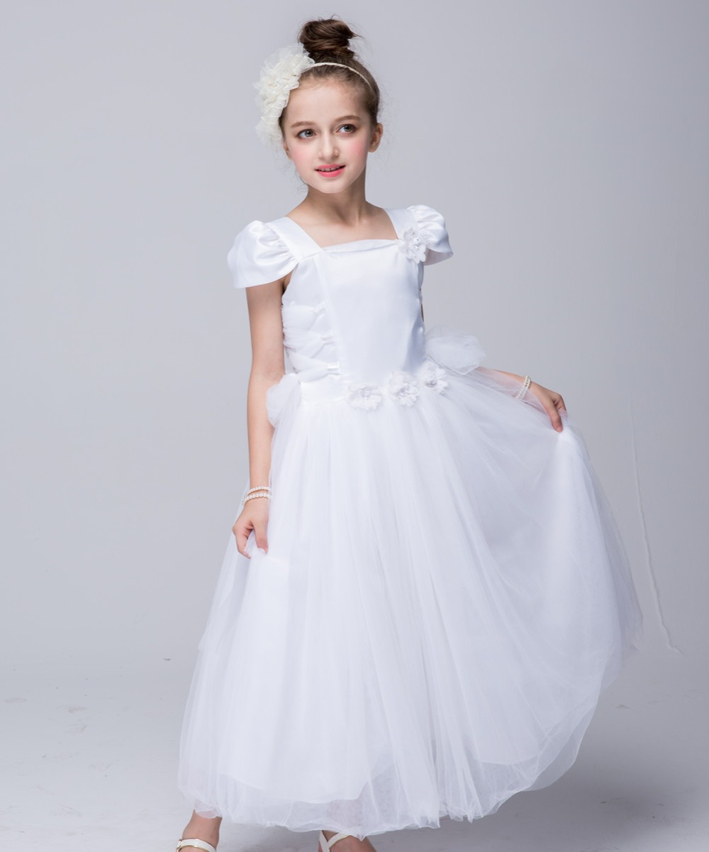 New Girls  Costume Fairy Cinderella Princess Dress Fancy  Party Performances long section petals dress  wedding dress  4-12T<br><br>Aliexpress