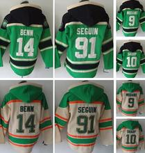men's hockey hoody, hoodies, #14 jamie benn, #9 mike modano, #10 patrick sharp, #91 tyler seguin, please read size chart.(China)