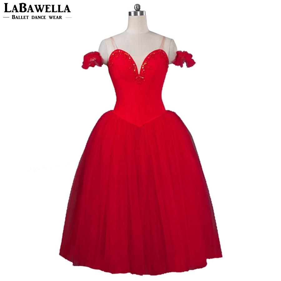 Girls Professional Tutu Ballet Dance Tutus BT9088A Child Ballerina Ballet Tutu Dress Red Ballet Romantic Tutu Dress