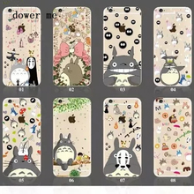 Cute Transparent Cartoon Totoro cat soft silicon phone case for iPhone 5 5S SE 6 6plus 7 cover back for Note3 4 5 S6 edge A5 7