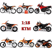 1:18 Maisto KTM Motorcycle Toy Die cast Metal Simulation Miniature Motorbike Model EXC 690 Duke 450 Rally Kids Toys Juguetes