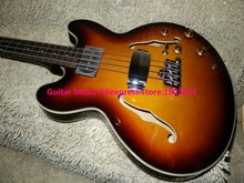 Bass Guitars Honey Burst 4 strings 335 Electric Bass Wholesale guitars OEM free shipping(China)