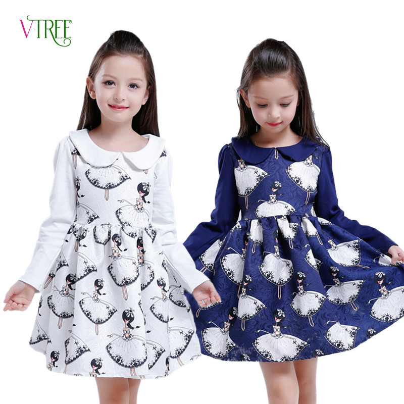 New Girls Dress Teenagers Baby Girls Princess Dress Spring Autumn Kids Children Long Sleeve Wedding Party Bow Dress 4-12 Year