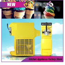 500w 35kg 220V 110V yellow Factory price Hot sale Mini fruit ice cream machine for commercial shop ice cream maker