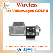 Wireless Parking Camera / 1/4 Color CCD Rear View Camera / Reverse View Camera For Volkswagen GOLF 6 Night Vision / 170 degree