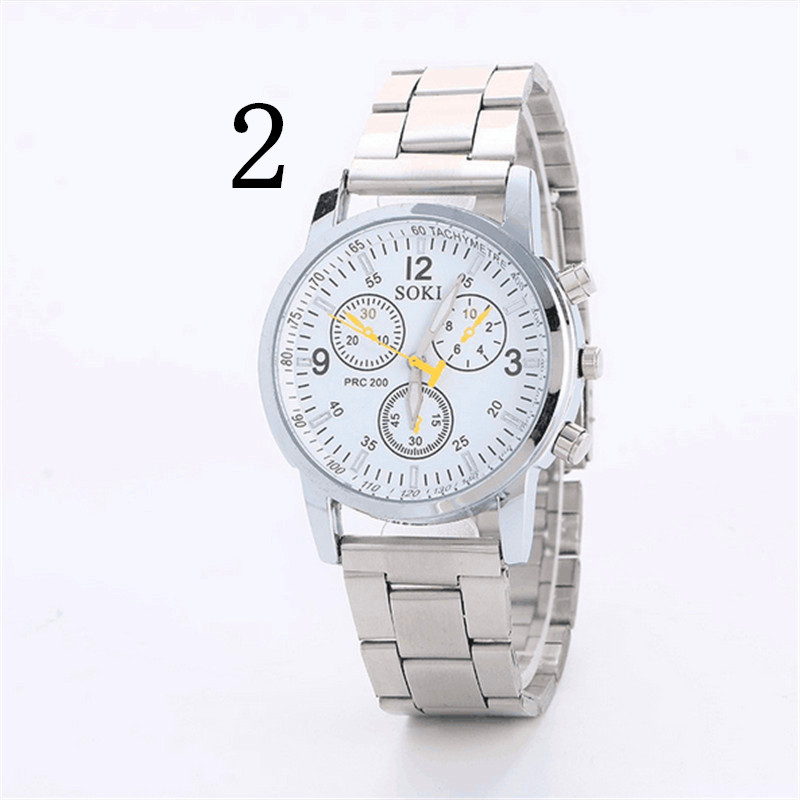 men New Fashion Mechanical Watch Stainless Steel  Concise Casual Luxury Business Wristwatch<br>
