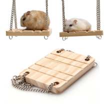 Small Animals Products Hamster Chinchilla Toys Wooden Swing Harness Hanging Bed Parrot Pet Hanging Pet Toys Accessories YX#(China)