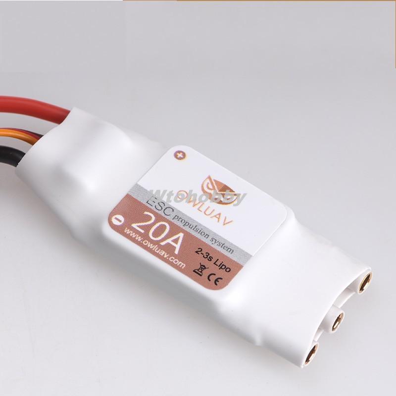 1Pc OWLUAV Brushless ESC 20A Electric Speed Controller for FPV RC Quadcopter Drone Kit <br><br>Aliexpress