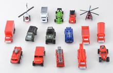 Alloy toy model set 16 pieces toy car helicopter truck ambulance jeep wrangler automobile race fire fighting military truck(China)