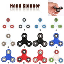 Top Lighting White ABS Plastic EDC Hand Spinner For Autism and ADHD Rotation Long Time Stress Relief Fitness Board Game