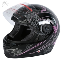 DOT ADULT Pink Black Butterfly Motorcycle Street Full Face Helmet Size S M L XL XXL(China)