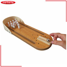 Entertainment Desktop Bowling Game Set Family Fun Toy Party Props And Gift For Children  Wooden Mini Bowling Metal Pin and Ball