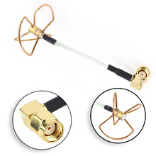 5.8G Clover 3 Blade Leaf Gain Antenna rightangle SMA female TX for Audio FPV