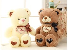 """hello"" sweet teddy bear plush toy love bear about 70cm doll, birthday gift b7809(China)"