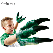 Dinosaur Toy Jurassic Dinosaur Gloves Toy Child Halloween Gift Gadgets For Boy Soft Vinyl PVC Animal Action Figure Cartoon Toys(China)