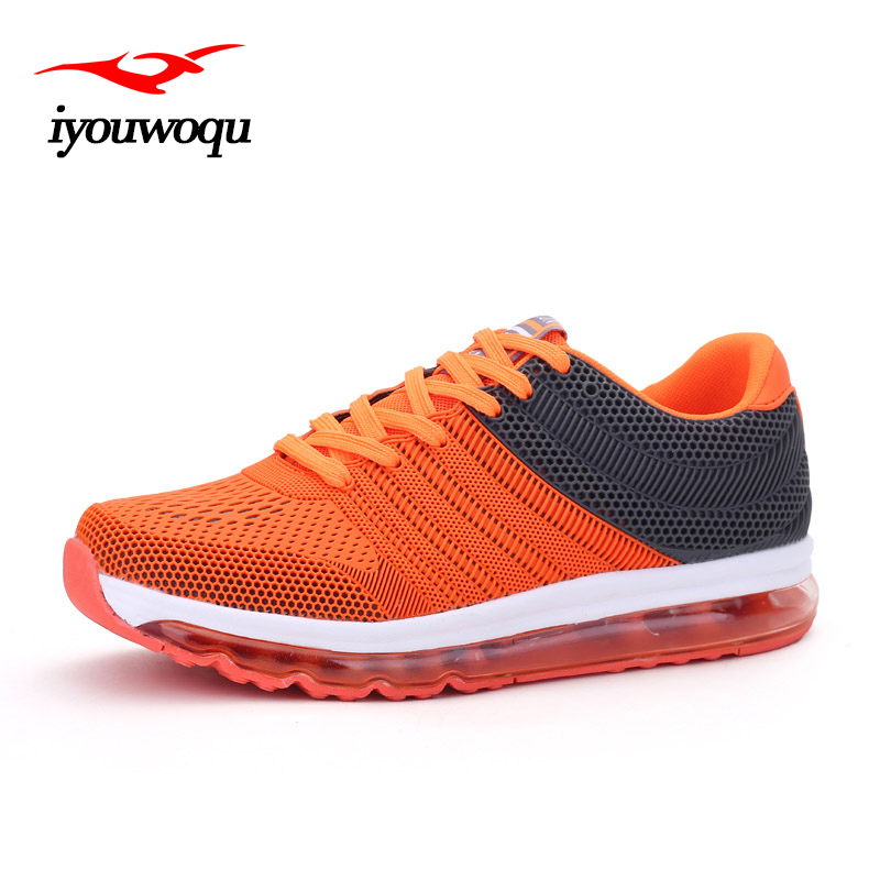 IYOUWOQU Outdoor men 's sports Running shoes Summer 2017 New Breathable Men Running shoes Full palm air cushion sneakers men