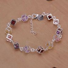 Free shipping silver  plated jewelry bracelet fine fashion bracelet top quality wholesale and retail SMTH220