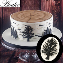 Aouke 1PCS Tree Shape,3D Silicone Fondant Cake Mold. For Cup Cake Decorating, Jelly, Chocolate, Soap Modeling D177(China)