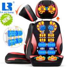 LEK 918S Electric vibrate back massager cheap body shoulder Heating massage chair sofa machine Neck masage cushion pillow chair