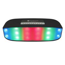 Promotion mini Pulse Colorful LED Light Bluetooth wireless speaker woofer Radio FM TF AUX  enceinte bluetooth portable puissant