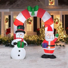 Indoor outdoor popular inflatable santas archway, Christmas inflatable arch yard decoration christmas ornaments