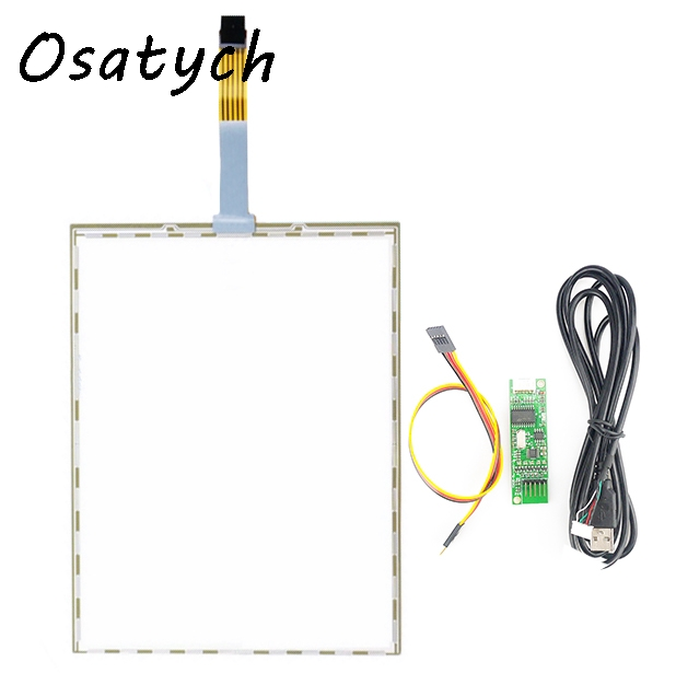 10.4 Inch 5 Wire Resistive for A104SN03+USB Win 7 XP 229*174mm 229mmX173mm Touch Panel Glass Free shipping<br>